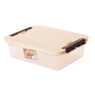 Інтригобокс Ящик пластиковий з кришкою 9л, 40*29*11см (4603_бежевый)