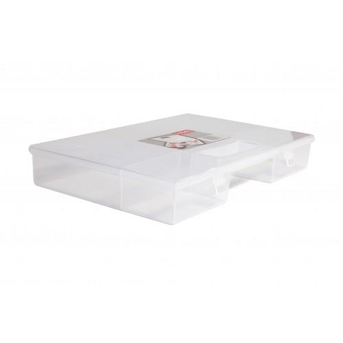 Даймікс Ящик пластиковий з кришкою для дрібних предметів, 28*19,5*4см (703)