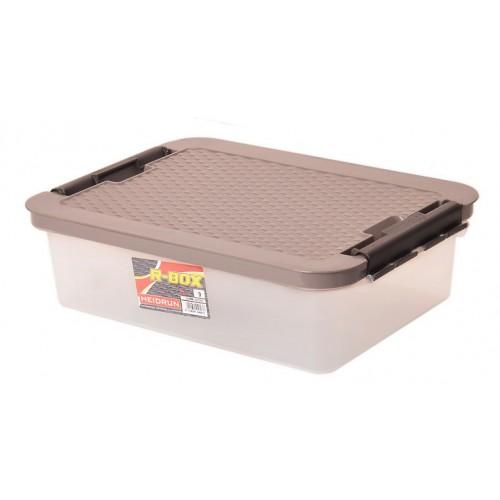 Інтригобокс Ящик пластиковий з кришкою 9л, 40*29*11см (4603_коричневый)
