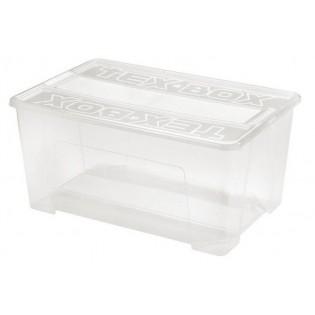 Текс-Бокс 8 Ящик пластиковий прозорий 185л., 78*59*40см (арт.7215)