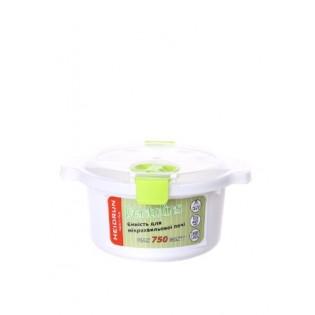 Пентолінс Ємність для мікрохвильової печі 0,8л, розмір 18,5*16,5*8,5см (1895_зеленый)