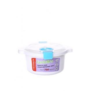 Пентолінс Ємність для мікрохвильової печі 0,8л, розмір 18,5*16,5*8,5см (1895_синий)