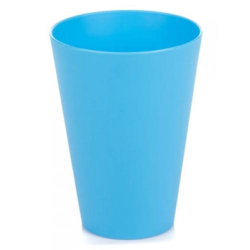 Китченмікс Склянка пластикова, 0.33л*18,5см (2606/1_голубой)