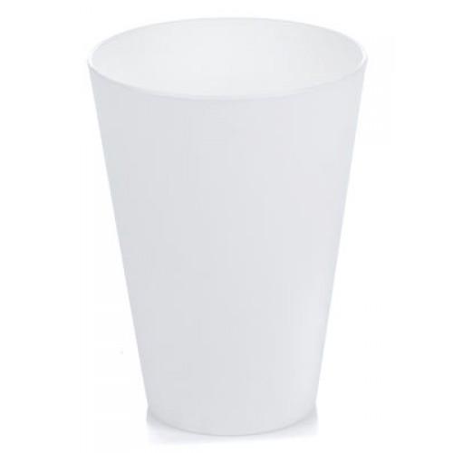 Китченмікс Склянка пластикова, 0.33л*18,5см (2606/1_белый)