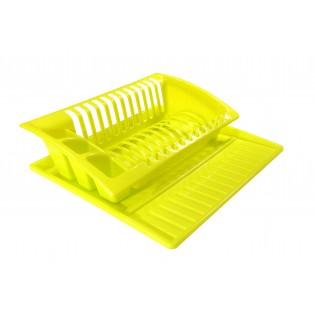 Китченмікс Сушарка для посуду на підставці 43*38,5*11,5см (2208_зеленый)