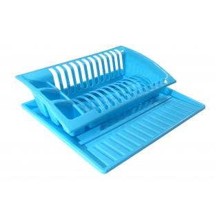 Китченмікс Сушарка для посуду на підставці 43*38,5*11,5см (2208_голубой)