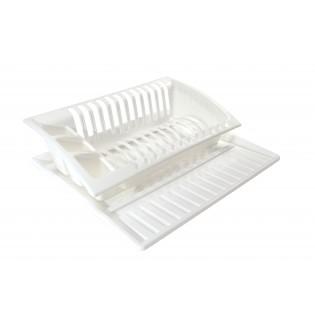 Китченмікс Сушарка для посуду на підставці 43*38,5*11,5см (2208_белый)