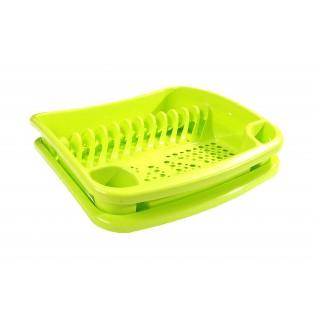 Китченмікс Сушарка для посуду на підставці 39*39*11см (2206_зеленый)