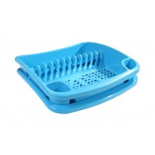 Китченмікс Сушарка для посуду на підставці 39*39*11см (2206_голубой)