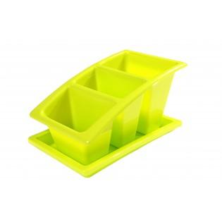 Китченмікс Сушарка для посуду на підставці 22*14*11,5см (2213_зеленый)
