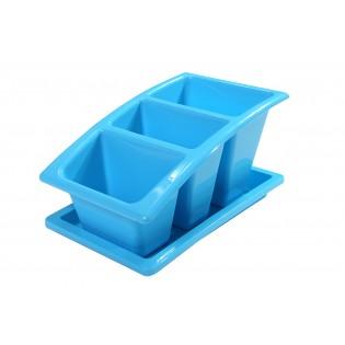 Китченмікс Сушарка для посуду на підставці 22*14*11,5см (2213_голубой)