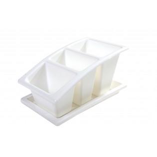 Китченмікс Сушарка для посуду на підставці 22*14*11,5см (2213_белый)