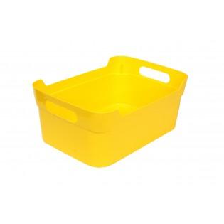 Кошик пластиковий з ручками, 34*24*14см (1083_желтый)