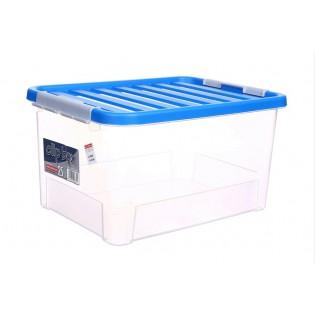 Кліпбокс Ящик пластиковий 25л, 44*31*23см (1670_синий)