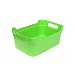 Кошик пластиковий з ручками, 24*17*10см (1082_зеленый)