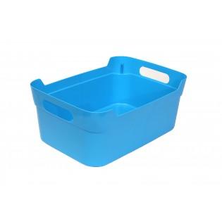 Кошик пластиковий з ручками, 24*17*10см (1082_голубой)