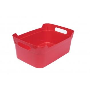 Кошик пластиковий з ручками, 24*17*10см (1082_красный)
