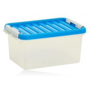 Бокс пластиковый для хранения, Clipbox 8л (1602_синий)