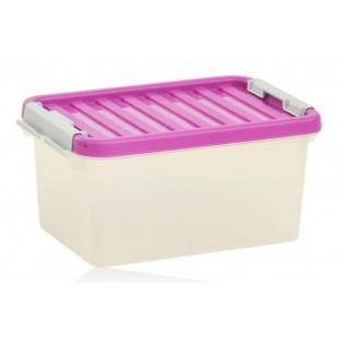 Бокс пластиковый для хранения, Clipbox 8л (1602_розовый)