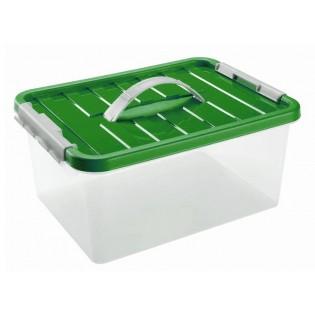 Бокс пластиковий для зберігання з ручкою 8л (1632_зеленый)