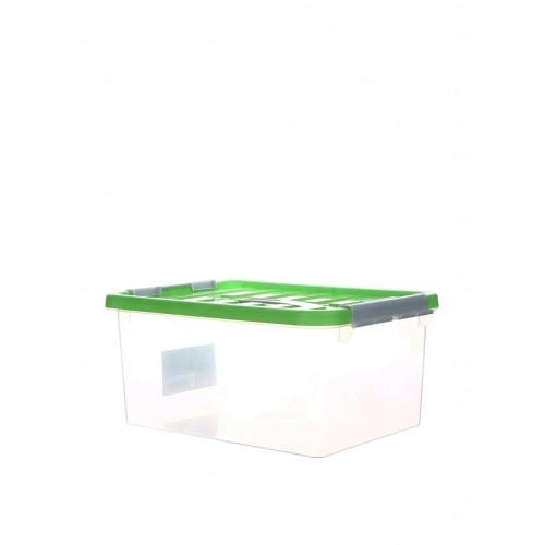 Бокс пластиковий для зберігання з ручкою 14л (1634_зеленый)