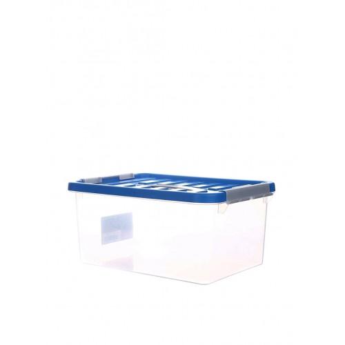 Бокс пластиковий для зберігання з ручкою 14л (1634_синий)
