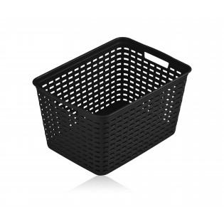 Кошик пластиковий ротанг 39*29*22см (1154_черный)