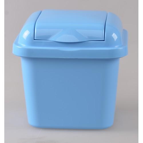 Рефьюз Відро для сміття з кришкою квадратне 1,5л, 14*16*15см (1427_голубой)