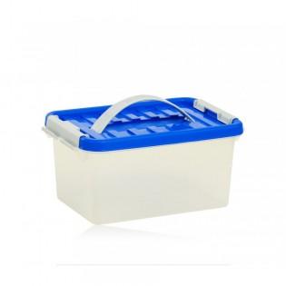 Бокс пластиковий для зберігання з ручкою 5л (1631_синий)