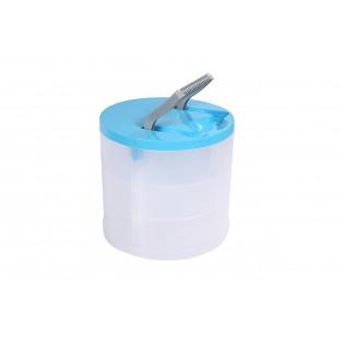 Даймікс Ящик пластиковий, круглий, 20*18см (700_голубой)