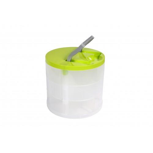 Даймікс Ящик пластиковий, круглий, 20*18см (700_зеленый)