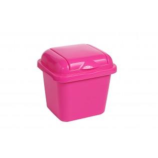 Рефьюз Відро для сміття з кришкою квадратне 1,5л, 14*16*15см (1427_розовый)