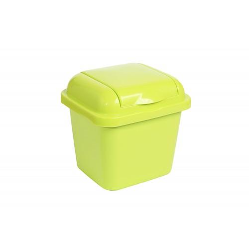 Рефьюз Відро для сміття з кришкою квадратне 1,5л, 14*16*15см (1427_зеленый)