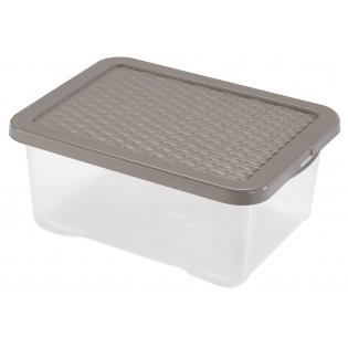 Інтригобокс Ящик пластиковий з кришкою під ліжко 18л, 43*33*18см (4682_коричневый)