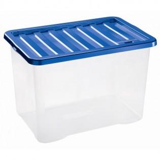 Квазар Ящик пластиковий 28л, 43*33*26см (1683_синий)