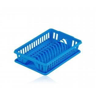 Китченмікс Сушарка для посуду з піддоном 38*26*9 см (2201_синий)