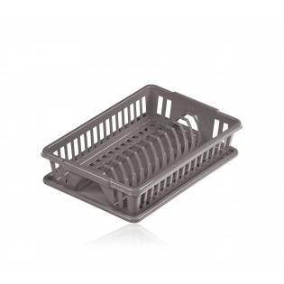 Китченмікс Сушарка для посуду з піддоном 38*26*9 см (2201_серый)
