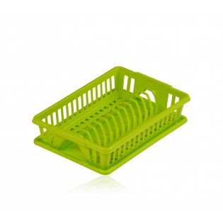 Китченмікс Сушарка для посуду з піддоном 38*26*9 см (2201_зеленый)