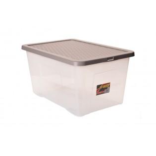 Інтригобокс Ящик пластиковий з кришкою 60л, 60*40*30см (4625_коричневый)
