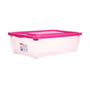 Боксманія Ящик пластиковий під ліжко 25л, 56*37*18см (1565_розовый)