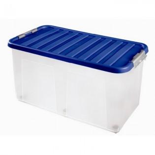 Кліпбокс Ящик пластиковий 100л, 80*40*40см (1617_синий)