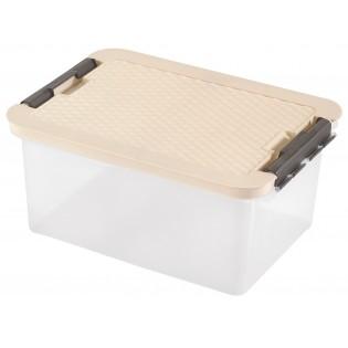 Интригобокс Ящик пластиковый с крышкой под кровать 14л, 40*29*18см (арт.4604)
