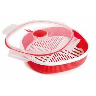 Пластиковый контейнер для приготовления пищи на пару, 2л (07033)
