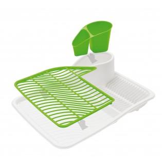 Сушка для посуды, дизайн белый с салатовым (06838)