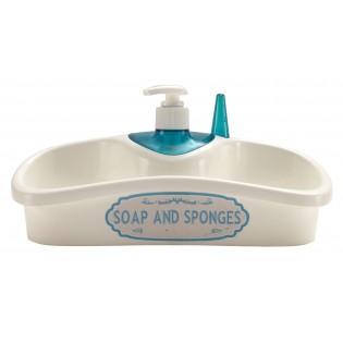 Кухонный аксессуар с емкостью для хранения жидкого мыла (02915)