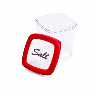 Контейнер для хранения соли, 1л, красная крышка (04995)