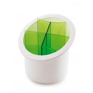 Сушка для столовых приборов, дизайн белый с салатовым (06821)